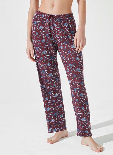 Penti Dark Paisley Pantolon  Kadın  Pijama Altı  Ana Kumaş Elastane 5,00 Ana Kumaş Vıscose 95,00   Mor